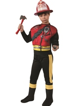 Fireman Deluxe Boys Daily Hero Costume