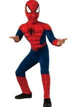Spiderman Boys Muscle Deluxe Costume