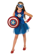 Captain America Tutu Girls Costume