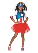 Captain America American Dream Girls Costume Marvel