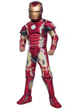 Iron Man Boys Deluxe Muscle Costume