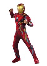 Iron Man Muscle Chest Boys Costume