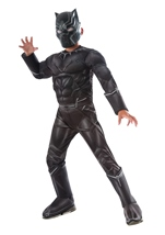 Black Panther Muscle Chest Boys Costume