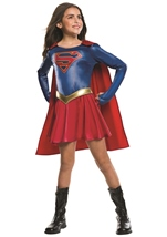 Supergirl Kids American Hero Costume