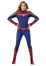 Captain Marvel Woman Hero Costume