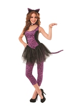 Purple Leopard Kitty Women Costume