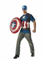Captain America Men Costume Kit