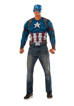 Captain America Muscle Chest Top Costume