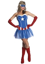 America Dream Woman Sexy Tutu Dress Costume