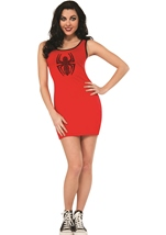 Spider Woman Sexy Rhinestone Tank Dress Woman Costume