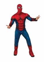 Adult Homecoming Spider Man Deluxe Muscle Men Costume