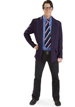 Reversible Clark Kent Superman Men Costume
