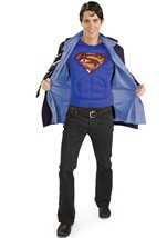 Adult Reversible Clark Kent Superman Men Costume