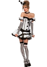 Women Deluxe Harlequin Costume