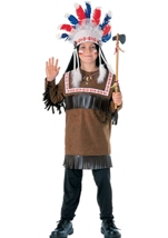 Cherokee Warrior Boys Native American Costume