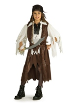 Girls Caribbean Pirate Queen Costume