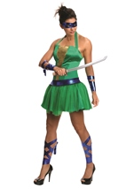 Adult Leonardo Ninja Turtle Woman Costume