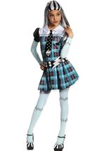 Frankie Stein Girls Costume With Wig