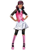 Draculara Girls Costume With Wig