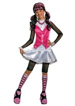 Kids Draculara Girls Costume With Wig