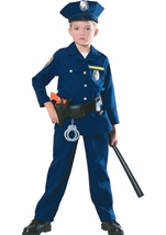 Boys Deluxe Police Office Costume