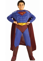 Superman Returns Deluxe Muscle Boys Costume