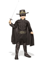Zorro Deluxe Boys Muscle Chest Costume