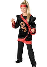 Red Dragon Ninja Girls Costume