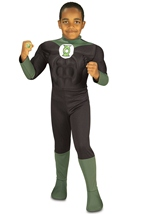 Muscle Chest Green Lantern Boys Costume
