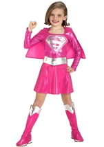 Pink Super Girl Kids Costume