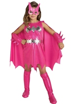 Girls Batgirl Pink Costume