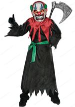 Scary Crazy Clown Kids Costume