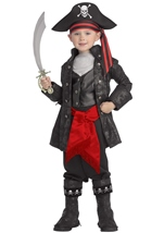 Deluxe Captain Black Boys Pirate Costume