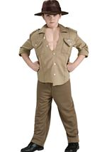 Indiana Jones Muscle Chest Boy Costume