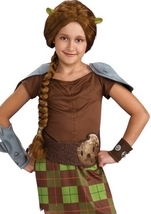 Shrek Forever Fiona Warrior Kids Costume