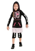 Pink Skeleton Girls Halloween Costume