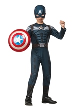 Captain America Winter Soldier Boys Muscle Stealth Costume