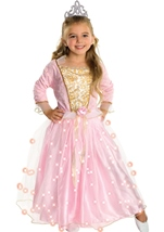 Girls Rose Princess Glow Costume