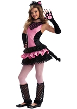 Black Kitty Tween Girls Costume