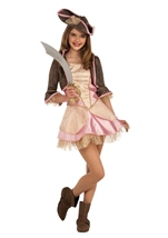 Pale Pink Pirate Girls Tween Buccaneer Costume