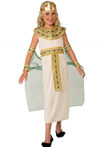Child Cleopatra Green And Gold Egyptian Goddess Costume