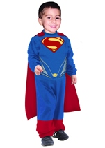 Kids Man Of Steel Super Man Toddler Boys Costume