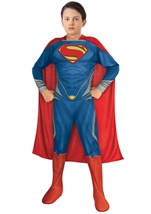 Man Of Steel Super Man Boys Classic Halloween Costume