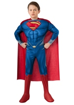 Man Of Steel Super Man Boys Deluxe Muscle Costume