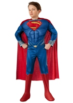 Man Of Steel Super Man Boys Deluxe Muscle Light Up Costume