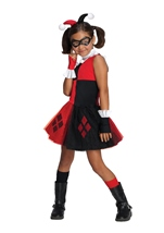 Harley Quinn Super Villian Girls Costume
