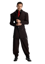 Gangster Pin Stripe Men Costume