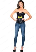 Woman Batgirl Sequin Corset Superhero Woman Costumes