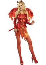 Devil On Fire Woman Costume
