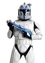Clone Trooper Rex Star Wars Men Costume